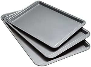 Good Cook Set Of 3 Non-Stick Cookie Sheet by Good Cook