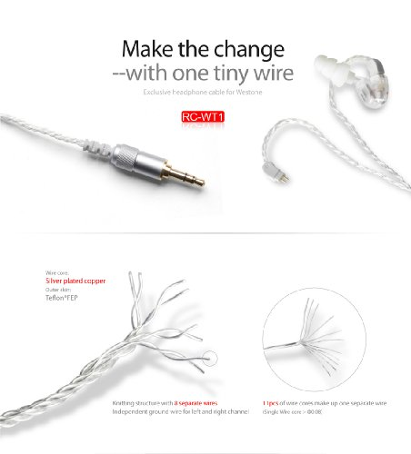 Fiio Rc-Wt1 Re-Cable For Westone Earphones - Compatible With W4R, Um-3Xrc, Jh13, Jh16