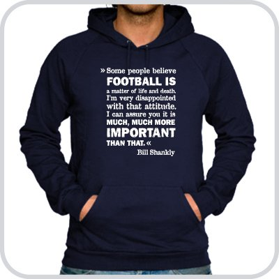 Hoodie Bill Shankly ::: Colour: navy ::: Sizes: M-XL (football)
