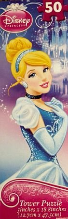 Disney Princess Cinderella Puzzle Tower Jigsaw Puzzle 50 Pieces - 1