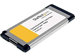 StarTech.com HDMI to ExpressCard HD Video Capture Card Adapter 1080p TV Tuners and Video Capture ECHDCAP