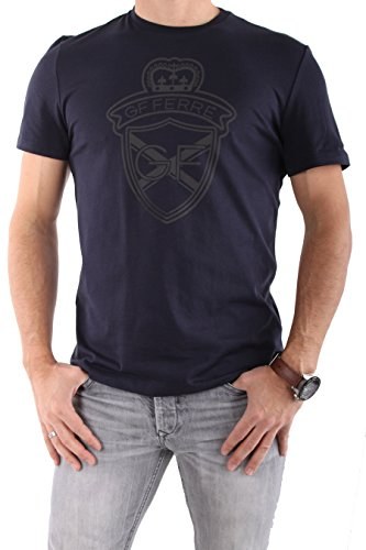 gianfranco-ferre-homme-tee-shirts-manches-courtes-yf1789-marine-bleu-fonce-l