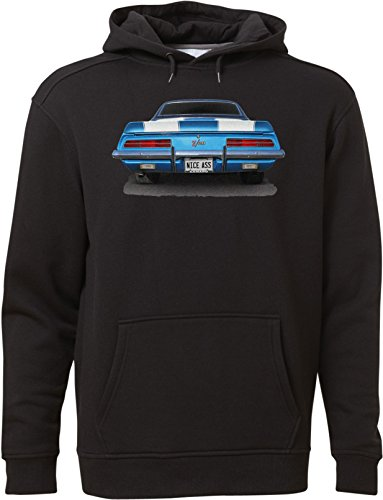BSW Unisex Nice Ass Camaro Z28 Classic Car Muscle Hot Rod Hoodie 4XL Black