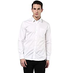 MENS COTTON SHIRT WHITE L