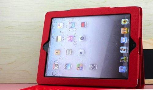 3点セットipad air / ipad5 カバー専用 ワイヤレスbluetoothキーボード(防水タイプ)  スタンド カバー+液晶保護フィルム+タッチペン付属 (赤)