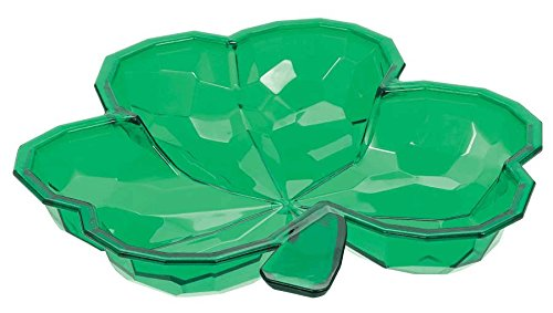Small Plastic Shamrock Bowl - 8.5 in (21.5 cm)