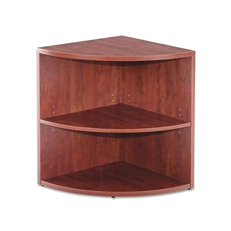 Alera Valencia Lower End Cap Bookcase, 23-5/8 W by 23-5/8 D by 29-1/2 H, Medium Cherry