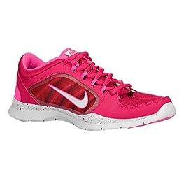 Nike Women\'s Flex Trainer 4 Training Shoe (11.5, Fchs Frc/Wht/Hypr P (Speckled))