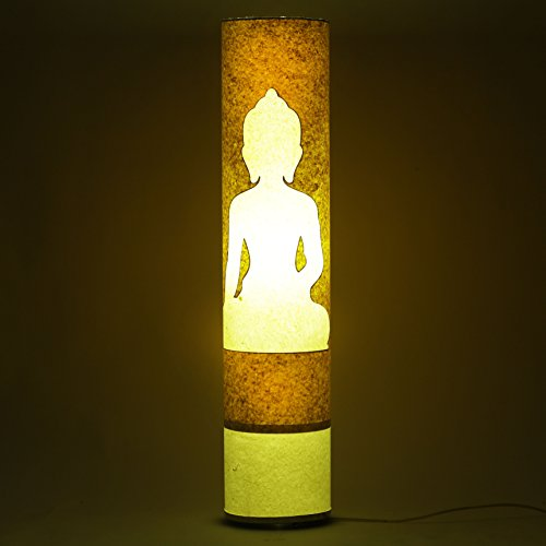 lord-buddha-yellow-white-paper-shade-cylinderical-floor-lamp-living-dining-room-night-light