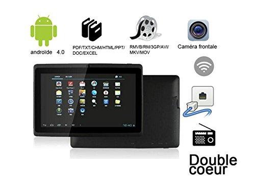 G-Anica 17,8 cm (7 Zoll) Tablet PC - Phablet Smartphone ohne Vertrag(Android 4.0, Dual-Core, HD 1024x600, WiFi , Dual- SIM,Bluetooth, 512MB RAM, 4GB), 3D Spiel Unterstützte -schwarz