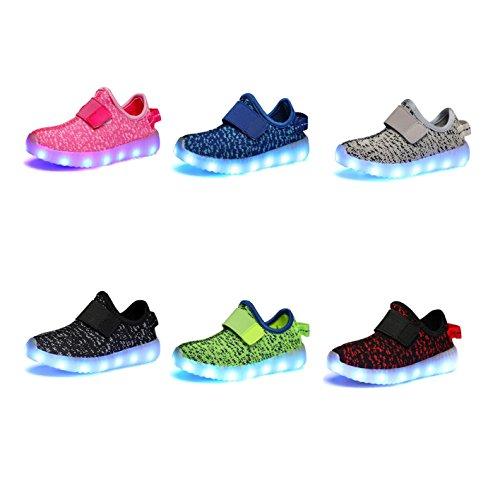 ABOZY Kid LED Fashion Sneaker Light Up Shoes USB Charging LED Light Sport Shoes (US Size 3 M, Style 2)