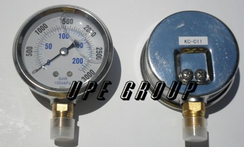NEW STAINLESS STEEL LIQUID FILLED PRESSURE GAUGE