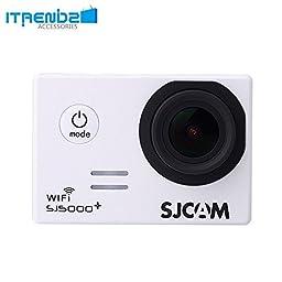 Video Camcorder, Itrendz White Sj5000 Plus Wifi Sports Action Camera Sjcam Sj5000+ Water Resistant Helmet Head Video Camcorder