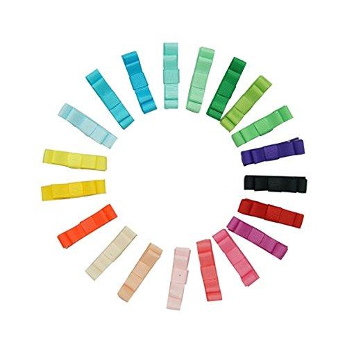 Archi WINOMO 12pcs capelli clip di capelli per ragazze bambini Alligator Clip a nastro (colore casuale)