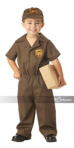 UPS Guy Boy's Costume, Large (4-6), One Color by California Costumes