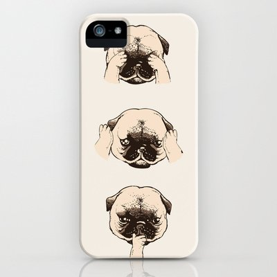 Society6/ソサエティシックス iphone5/5S パグ 犬 いぬ No_Evil_Pug