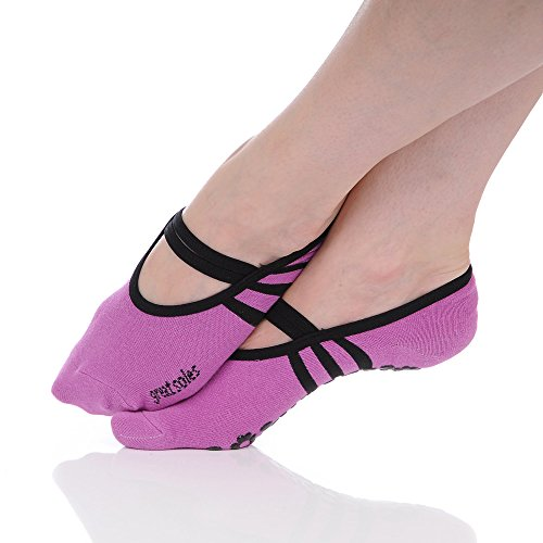 Great Soles Women's Ballet Sock One Size Orchid/Black