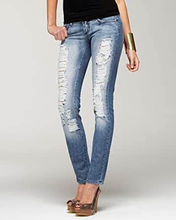 Carmen Shred Skinny Jean - bebe  :  skinny sexy jean classic