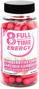 Full-Time Energy Super Pill with Raspberry Ketones Garcinia Cambogia Green Coffee Bean Extract Fat Burners - Extreme Diet Pills - The Best Weight Loss Supplements That Works Fast for Women and Men from Full-Time
