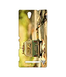 Vogueshell Toy Bus Printed Symmetry PRO Series Hard Back Case for Sony Xperia C3