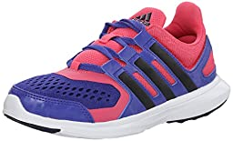adidas Performance Hyperfast 2.0 K Running Shoe (Little Kid/Big Kid),Semi Night Flash/Purple/Navy/Pink,3 M US Little Kid