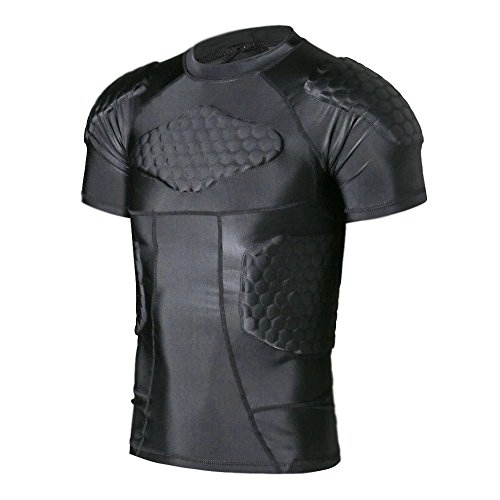Ty mens boys safe guard padded compression t shirt sports for Sports shirts near me