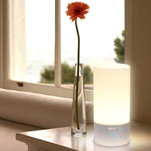 Aglaia luce notturna per camera da letto, lampada da comodino con ...