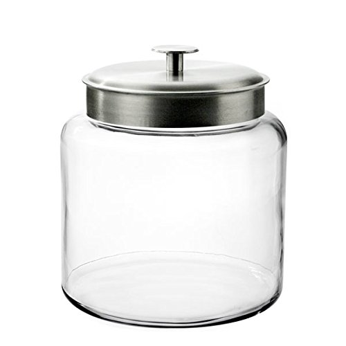 Anchor Hocking 1.5-Gallon Montana Jar with Brushed Metal Lid (Airtight Glass Storage Containers compare prices)