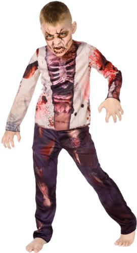 Big Boys' Boy Zombie Costume Medium (8-10) (Zombie Kid Costume)
