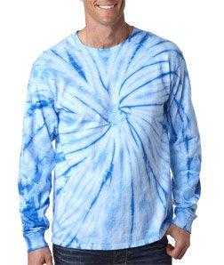 Tie-Dyes C2000 Td Tie-Dye L/S Tee - Baby Blue Spider - Xl