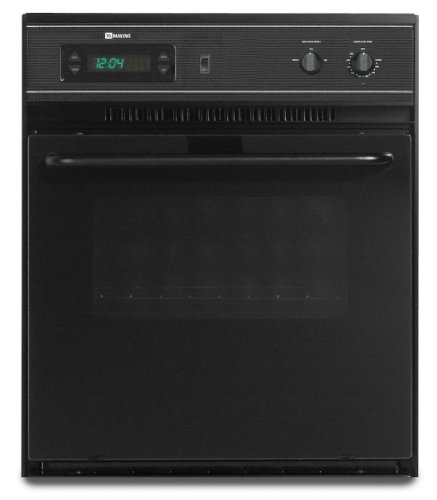 Maytag 24 In. Black Single Electric Wall Oven - CWE4100ACB