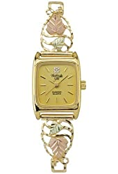 Black Hills Gold Analog Champagne Dial Ladies Gold Watch 9045-25/5738