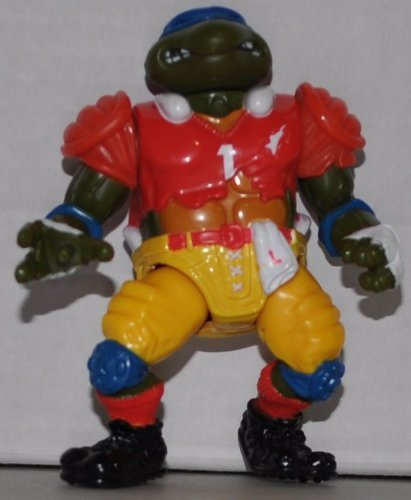 Vintage T.D. Tossin' Leo (1991) - Action Figure - Playmates - TMNT - Teenage Mutant Ninja Turtles Collectible Figure - Loose Out of Package & Print (OOP)