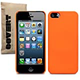 Fluro Orange iPhone 5 Covert Branded Rubber Back Cover / Case / Shell / Skin