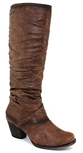 Baretraps Rocky Womens Size 9 Brown Textile Fashion Mid-Calf Boots