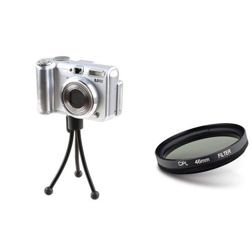eForCity 46mm Lens Filter + Retractable Tripod for 46mm lens Cameras