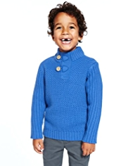 Funnel Neck Fisherman Knitted Jumper