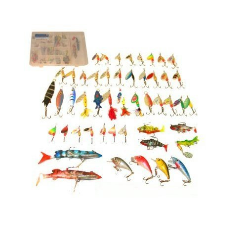 FISHING TACKLE 51PC COMPLETE FISHING LURE SET AND BOX