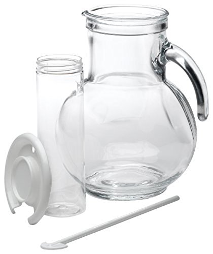 Bormioli Rocco Iced Tea Glass Pitcher with Ice Container and