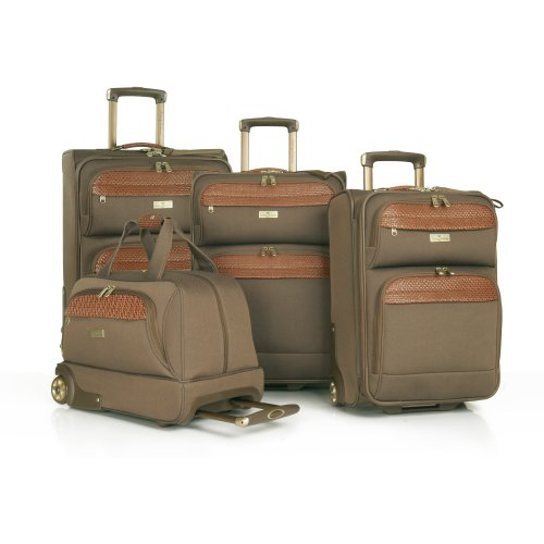 Tommy Bahama Luggage Paradise Island Four Piece Set, Olive, One Size