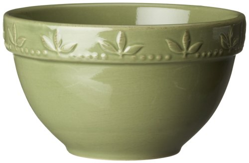 Signature Housewares Sorrento Collection 30-Ounce Utility Bowl, Green Antiqued Finish