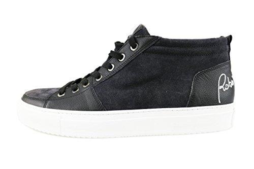 BOTTICELLI sneakers uomo nero pelle camoscio AG56 (45 EU)