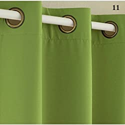 New (Color of 16) Home Fashion Window Treatment Thermal Insulated Solid Grommet Blackout Curtains Panel Modern Drapes for Bedroom 11 W130xL240cm