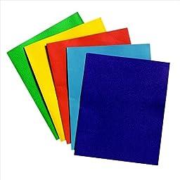 School Smart 2 Pocket Folder - 9 x 12 inch - Pack of 25 - Light Blue