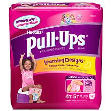 Huggies Pull-Ups Training Pants, Girls, 4T-5T, 33-Count - 1