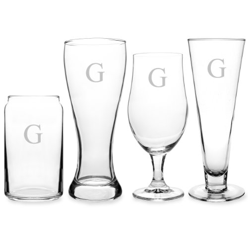 Cathy's Concepts Personalized Beer Glasses, Letter G (Monogram Beer Glasses compare prices)
