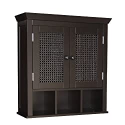 Elegant Home Fashions 7800 Savannah Wall Cabinet Dark Espresso