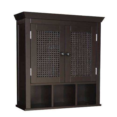 Why Choose Elegant Home Fashions 7800 Savannah Wall Cabinet Dark Espresso