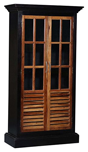 The Heritage TH-DLKC005 Nashviille Walnut and Natural Finsh Kitchen Cabinet (Brown)