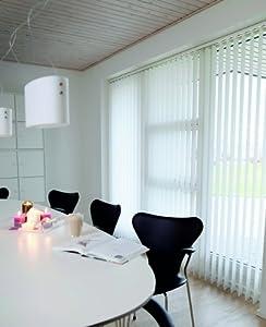 Lamellenvorhang / Vertikalanlage D&LUX ~ Farbe weiss ~ (BxH) 150x250 cm ~ Vertikaljalousie ~ Lamellenbreite 89mm    Rezension
